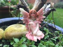 Pink Magical Fairy Fairyland Garden Ornament